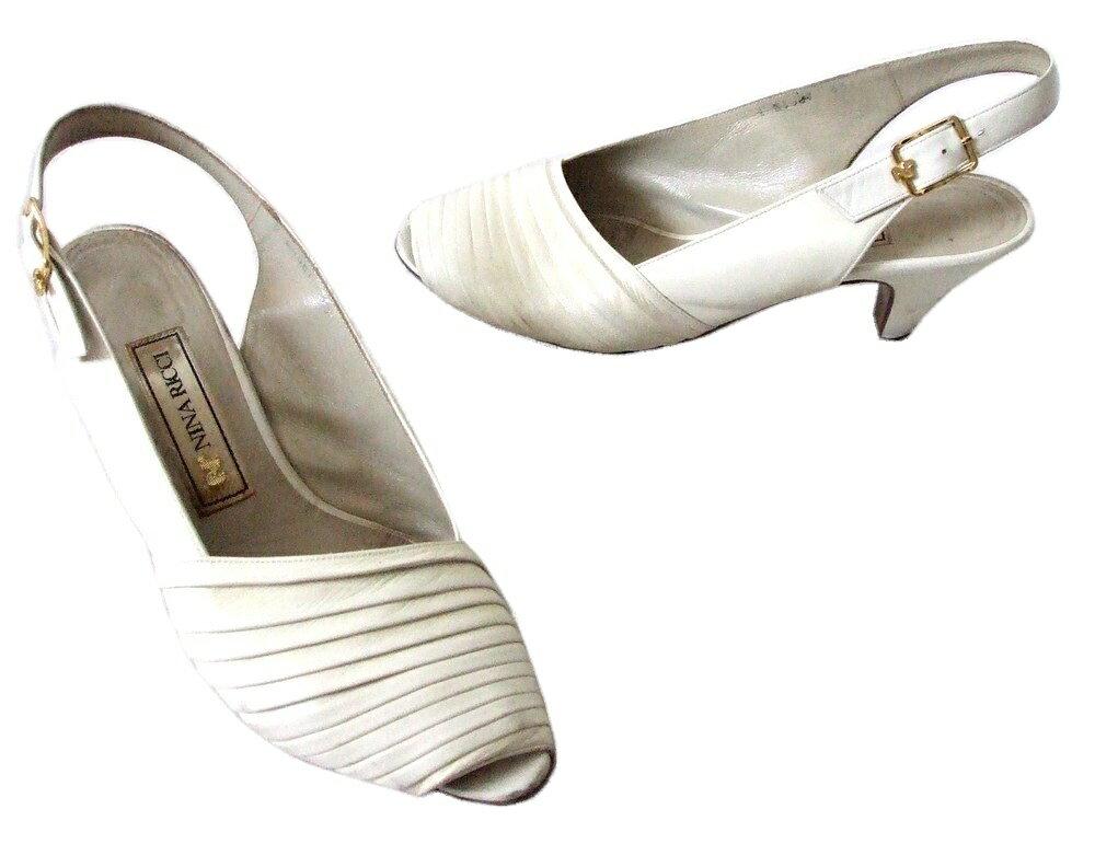 難有 [SALE] NINA RICCI ニナリッチ 「35」 バックストラップレザーサンダル (靴 シューズ 皮 革 パンプス) 093827 【中古】