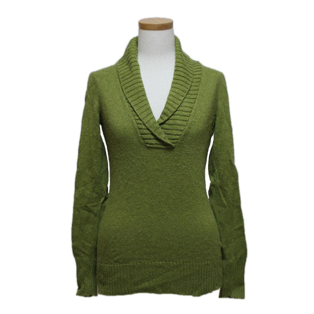J.CREW ジェイクルー 「XS」 襟付きVネックセーター (長袖ニット) 094516 【中古】