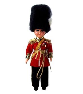 老式英國衛兵老式英國士兵守衛在聯合王國娃娃 (全套娃娃) 094792