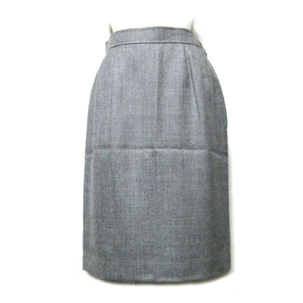 美品 GIVENCHY ジバンシィ 「9」 定番ウールスカート (ジバンシー グレー) 095410 【中古】