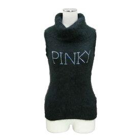 美品 Pinky&Dianne ピンキーアンドダイアン 「38」 黒ノースリーブモヘアニットセーター 095577 【中古】