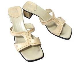 Marie Claire マリクレール 「L」 レザーサンダル (靴) 095684 【中古】