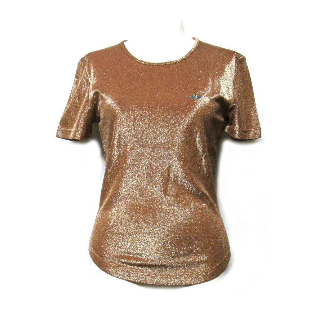 美品 Vivienne Westwood RED LABEL ヴィヴィアンウエストウッド レッドレーベル 「M」 イタリア製ワンオーブラメ半袖Tシャツ 095760 【中古】