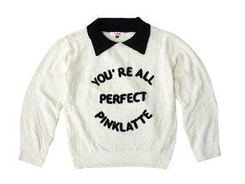 Pinklatte ピンクラテ 「S」 襟付きニットセーター (ワールド) 096188 【中古】