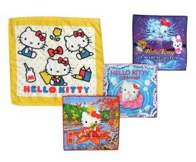 廃盤 Hello Kitty ハローキティ ハンカチ4枚セット (タオル SANRIO サンリオ) 096354 【中古】