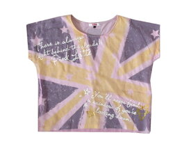 Pinklatte ピンクラテ 「S」 ユニオンジャックレイヤードTシャツ (半袖 ワールド) 097417 【中古】