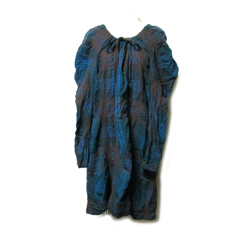 美品 Vivienne Westwood RED LABEL ヴィヴィアンウエストウッド レッド レーベル 「2」 縮絨ワイドシルエットワンピース 097496 【中古】