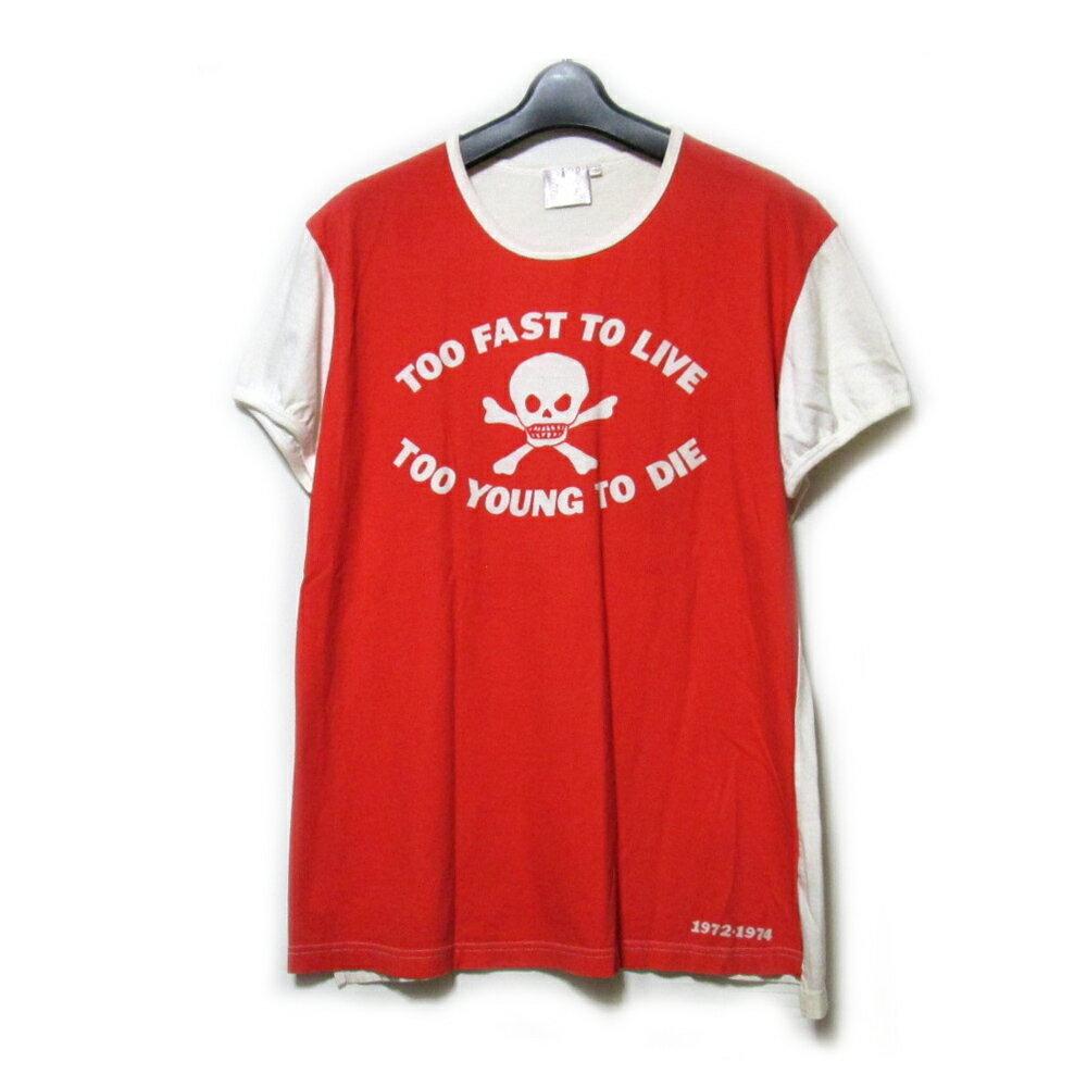 難有 [SALE] Vivienne Westwood GOLD LABEL ヴィヴィアンウエストウッド ゴールドレーベル 「L」 イギリス製 TOO FAST TO LIVE Tシャツ (半袖 英国製) 098445 【中古】