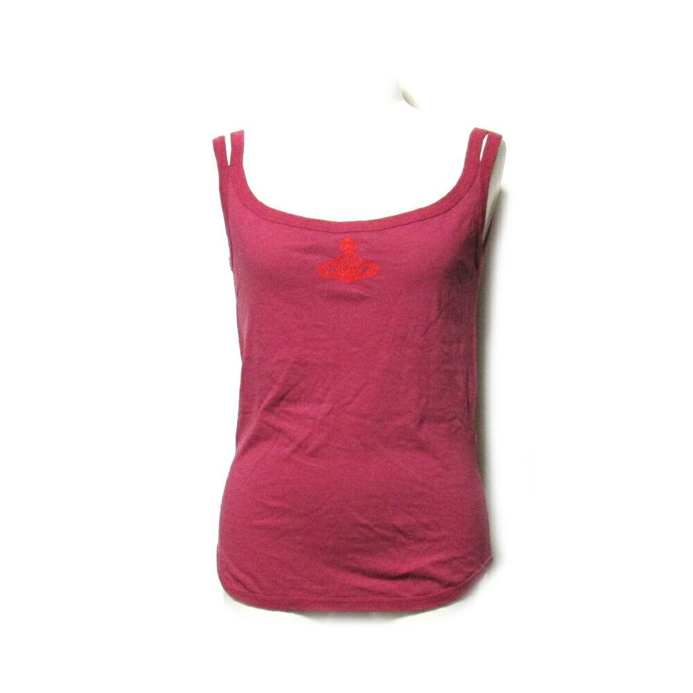 Vivienne Westwood RED LABEL ヴィヴィアンウエストウッド レッドレーベル 「3」 ジャイアントオーブ刺繍タンクトップ (ピンク Tシャツ) 099444 【中古】