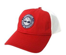 【新古品】 Timberland ティンバーランド メッシュキャップ (赤 白 帽子 エンブレム) 099567 【中古】