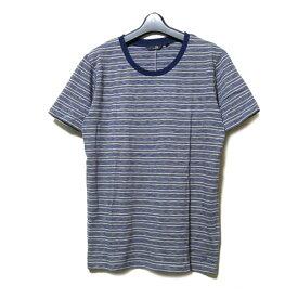 【未使用】 uu uniqlo×undercover アンダーカバー ユニクロ 「M」 限定 ボーダーTシャツ (グレー 青 半袖) 100047 【中古】
