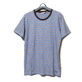 【未使用】 uu uniqlo×undercover アンダーカバー ユニクロ 「M」 限定 ボーダーTシャツ (茶 青 半袖) 100048 【中古】