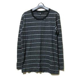 【未使用】 uu uniqlo×undercover アンダーカバー ユニクロ 「M」 限定 ボーターTシャツ (黒 長袖 ロンTシャツ) 100049 【中古】