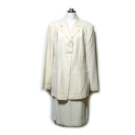 LUCIANO SOPRANI ルチアーノ ソプラーニ 「42 48」 セットアップスーツ (白 ベージュ スカート) 100271 【中古】