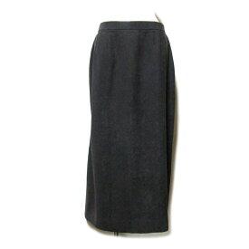 HARDY AMIES London ハーディエイミス 「43」 ロングドレープスカート (茶色) 101032 【中古】