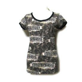 Jean Paul GAULTIER FEMME ジャンポールゴルチエ ファム 「40」 グランジデザインTシャツ (黒 ファム 半袖) 101168 【中古】
