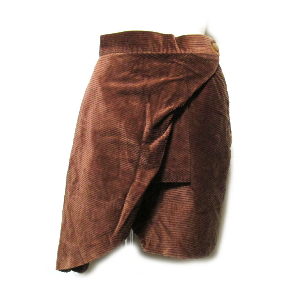 Vivienne Westwood RED LABEL ヴィヴィアンウエストウッド レッドレーベル 「42」 イタリア製 アシンメトリーデザインスカート (茶 ) 101704 【中古】