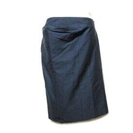 Vivienne Westwood RED LABEL ヴィヴィアンウエストウッド レッドレーベル 「40」 イタリア製 アシンメトリードレープスカート (紺 ネイビー) 101785 【中古】