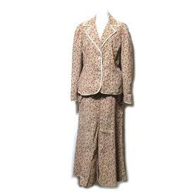 LAURA ASHLEY ローラアシュレイ 「13」 カントリーフラワーセットアップスーツ (花柄 ジャケット ロングスカート) 101861 【中古】