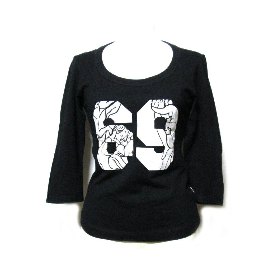 Vivienne Westwood RED LABEL ヴィヴィアンウエストウッド レッドレーベル 「1」 シックスナインカットソー (黒 ORB Tシャツ 7分袖) 101875 【中古】