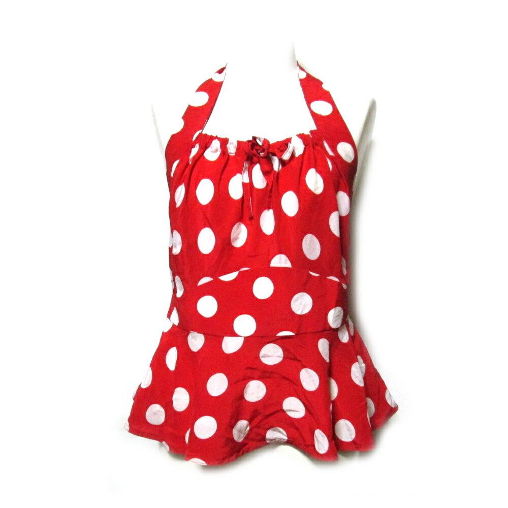 難有 [SALE] Vivienne Westwood RED LABEL ヴィヴィアンウエストウッド レッドレーベル 「IV」 イタリア製 ドットキャミカットソー (赤 水玉) 102079 【中古】