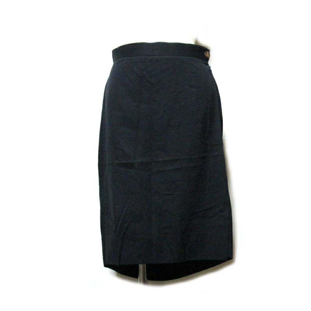 Vivienne Westwood RED LABEL ヴィヴィアンウエストウッド レッドレーベル 「2」 アシンメトリースカート (黒) 103006 【中古】