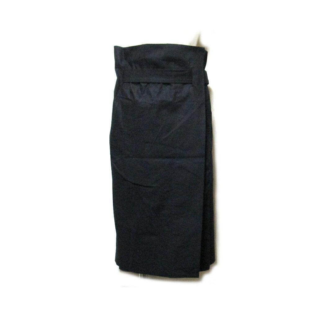 Anglomania Vivienne Westwood アングロマニア ヴィヴィアンウエストウッド 「36」 ワイドデザイン巻きスカート (黒 ビッグシルエット) 103012 【中古】