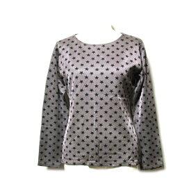 Jean Paul GAULTIER FEMME ジャンポールゴルチエ ファム 「L」 スターモノグラムストレッチTシャツ (ゴルチェ フェム 長袖 Tシャツ ロング) 103252 【中古】