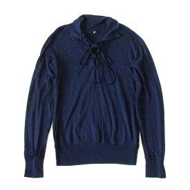 ZUCCA ズッカ レースアップニットセーター (紺 ネイビー ユニセックス) 103439 【中古】