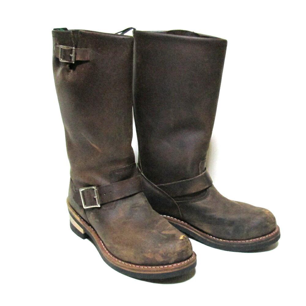 Getta Grip Dr.Martens ゲッタグリップ ドクターマーチン 「UK6」 オイルドレザーエンジニアブーツ (茶色 ロング 靴 シューズ) 103477 【中古】