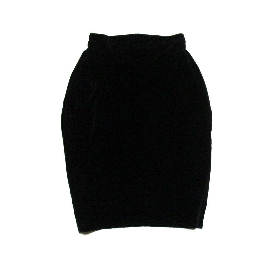 Vivienne Westwood GOLD LABEL ヴィヴィアンウエストウッド ゴールドレーベル イギリス製 ベルベットドレープスカート (黒) 103481 【中古】