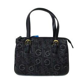 【新古品】 Guy Laroche ギラロッシュ モノグラムボストンバッグ (黒色 鞄) 103648 【中古】
