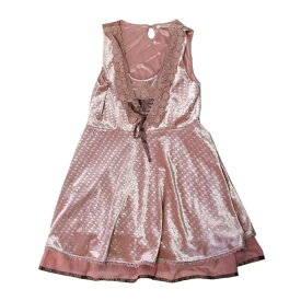 美品 axes femme アクシーズファム プリンセスワンピース ヘッドドレス付 (ピンク ドレス カチューシャ付き) 103653 【中古】