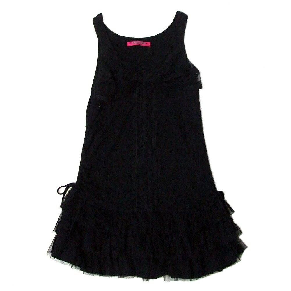 DOLLY GIRL by ANNA SUI ドーリーガール バイ アナスイ フリルレースワンピース (黒 ドレス) 103832 【中古】