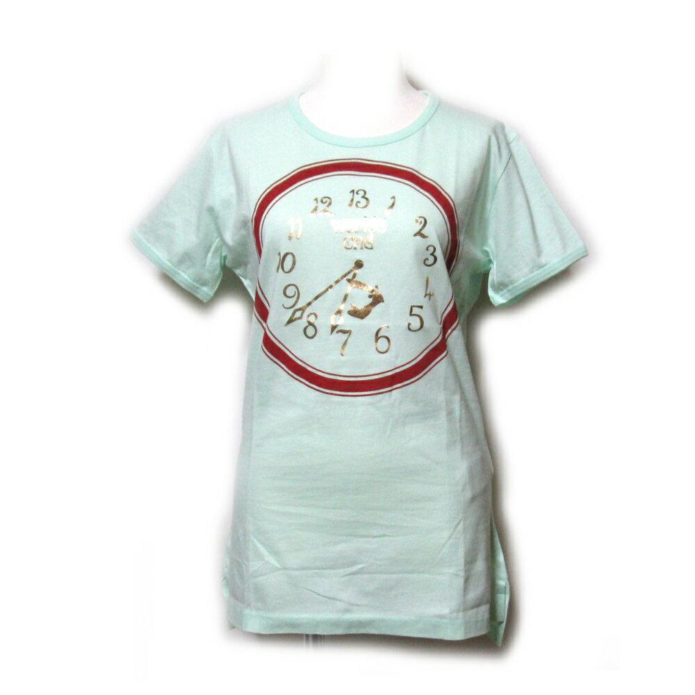 【新古品】 廃盤 Vivienne Westwood ヴィヴィアンウエストウッド 「S」 イタリア製 クロックTシャツ (ライムグリーン ワールズエンド Worls end) 104444 【中古】