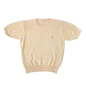 BROOKS BROTHERS ブルックス ブラザーズ 「36」 コットン半袖セーター (ニット クリームイエロー) 104658 【中古】