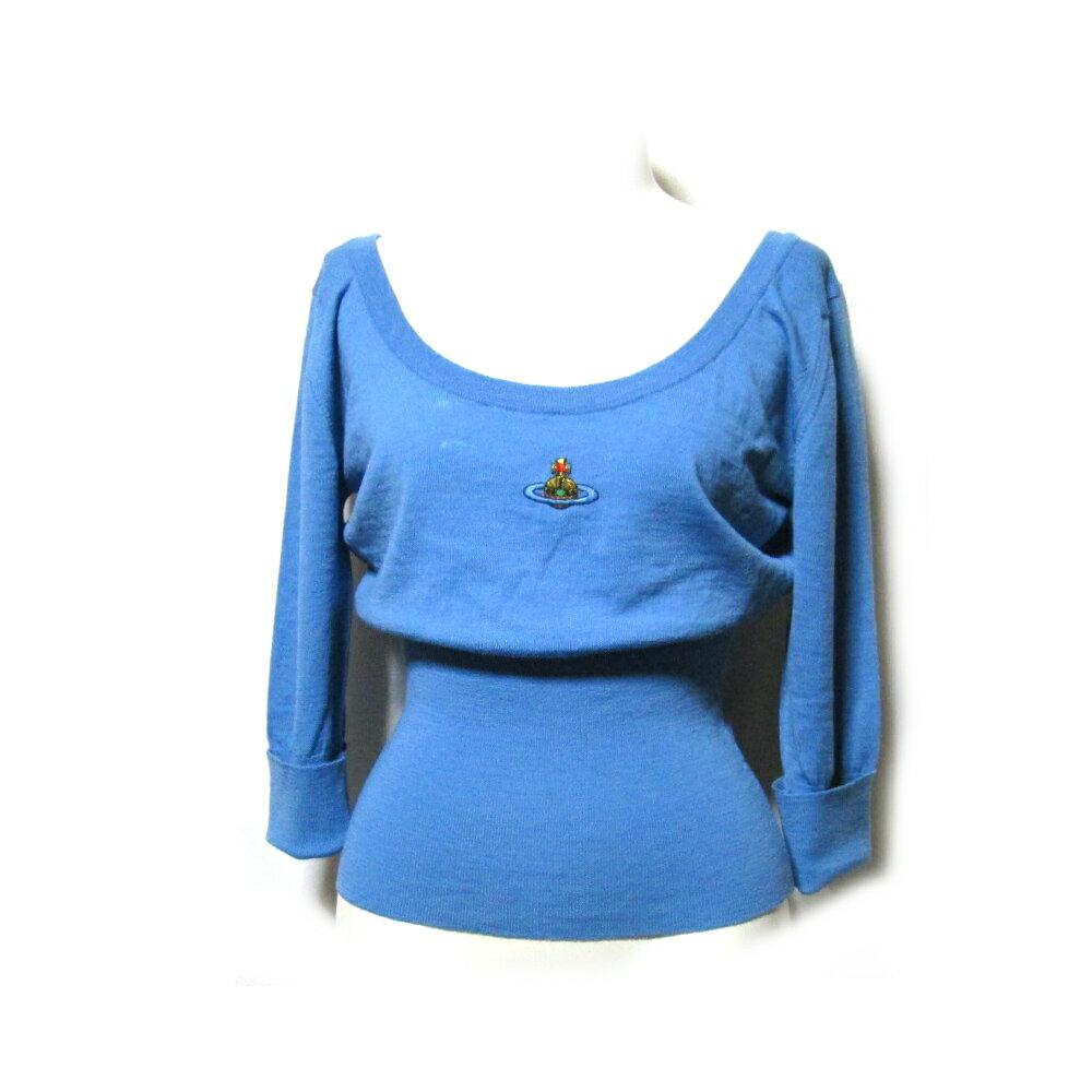 Vivienne Westwood ヴィヴィアンウエストウッド 「34」 イギリス製 ワンオーブニットセーター (水色 ORB ヴィンテージ Vintage) 104718 【中古】
