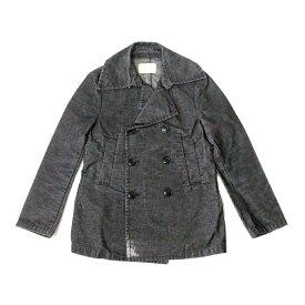 ZUCCA ズッカ コーデュロイPコート (黒 グレー ピーコート ジャケット) 104859 【中古】
