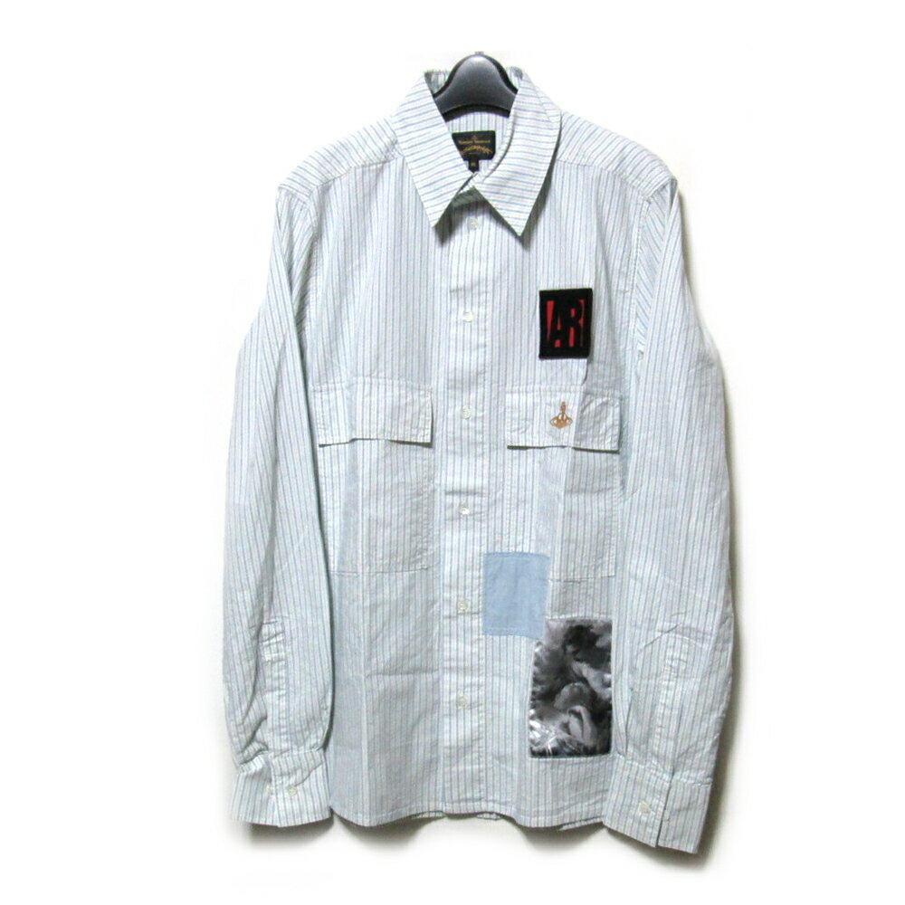 【新古品】 Anglomania Vivienne Westwood アングロマニア ヴィヴィアンウエストウッド 「M」 イタリア製 ベリーシャツ (ユニセックス インポート アナーキー) 105351 【中古】