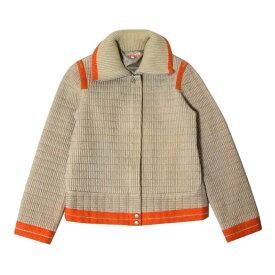 美品 CASTELBAJAC カステルバジャック 「1」 ライダースデザインジャケット (ベージュ オレンジ ブルゾン) 105390 【中古】