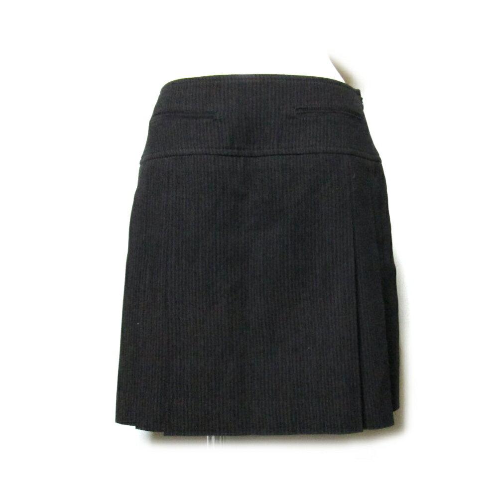 美品 Jean Paul GAULTIER FEMME ジャンポールゴルチ 「40」 ストライププリーツスカート (ブライン) 105437 【中古】