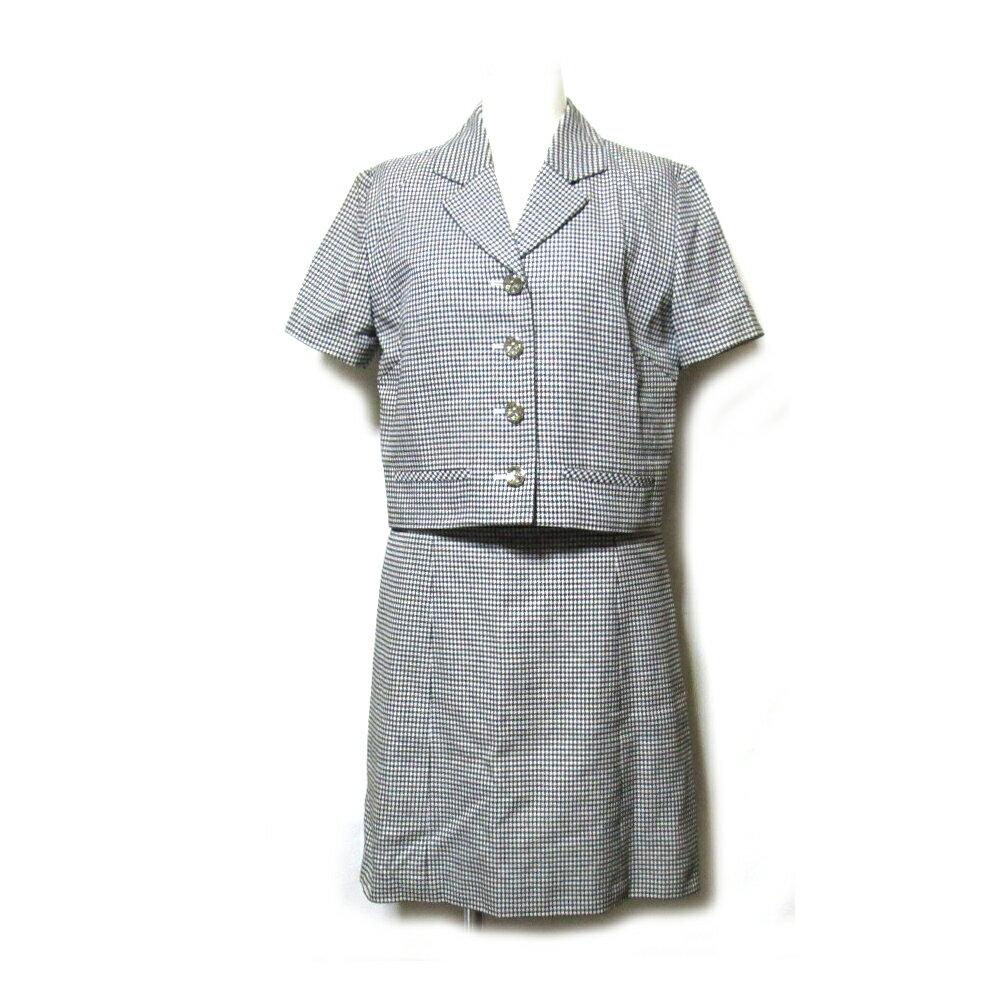 難有 [SALE] Vintage old Christian Dior ヴィンテージオールド クリスチャンディオール 「M」 セットアップワンピーススーツ (ジャケット 春夏 半袖) 105458 【中古】