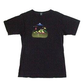 ZUCCA ズッカ ニッポン伝統Tシャツ (黒 半袖 日本 CABANE D de zucca) 105791 【中古】
