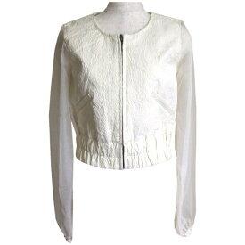 【未使用】 rienda リエンダ セットアップスーツ (白 ショートパンツ キュロットスカート 袖シースルー) 106441 【中古】