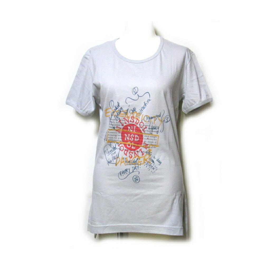【新古品】 廃盤 Vivienne Westwood worls end ヴィヴィアンウエストウッド ワールズエンド 「XS」 限定 メッセージTシャツ (グレー 半袖) 107299 【中古】