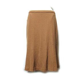 LEONARD レオナール 「73」 ストレッチロングスカート (茶色 ) 107550 【中古】