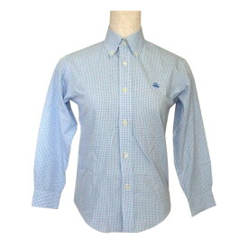 美品 Brooks Brothers ブルックスブラザーズ 「S」 ギンガムチェックボタンダウンシャツ (ブルー キッズ 子供服) 108119 【中古】