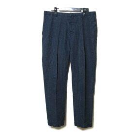 難有 [SALE] MARNI マルニ 「50」 イタリア製 ギンガムチェックパンツ (紺 スラックス テイパード) 108319 【中古】