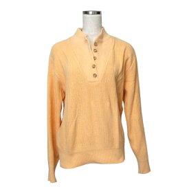 Vintage L.L.Bean ヴィンテージ エルエルビーン アメリカ生産襟付きコットンセーター (オレンジ ポロシャツ) 108886 【中古】