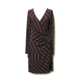 美品 LAURA ASHLEY ローラアシュレイ 「8」 カシュクールワンピース (ドレス ストレッチ) 109011 【中古】